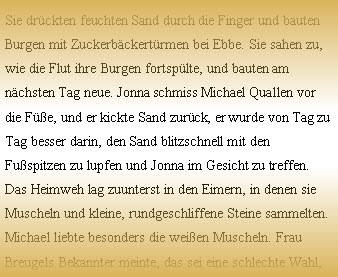 Ulrike Schäfer: Jonnas Haus (Auszug)